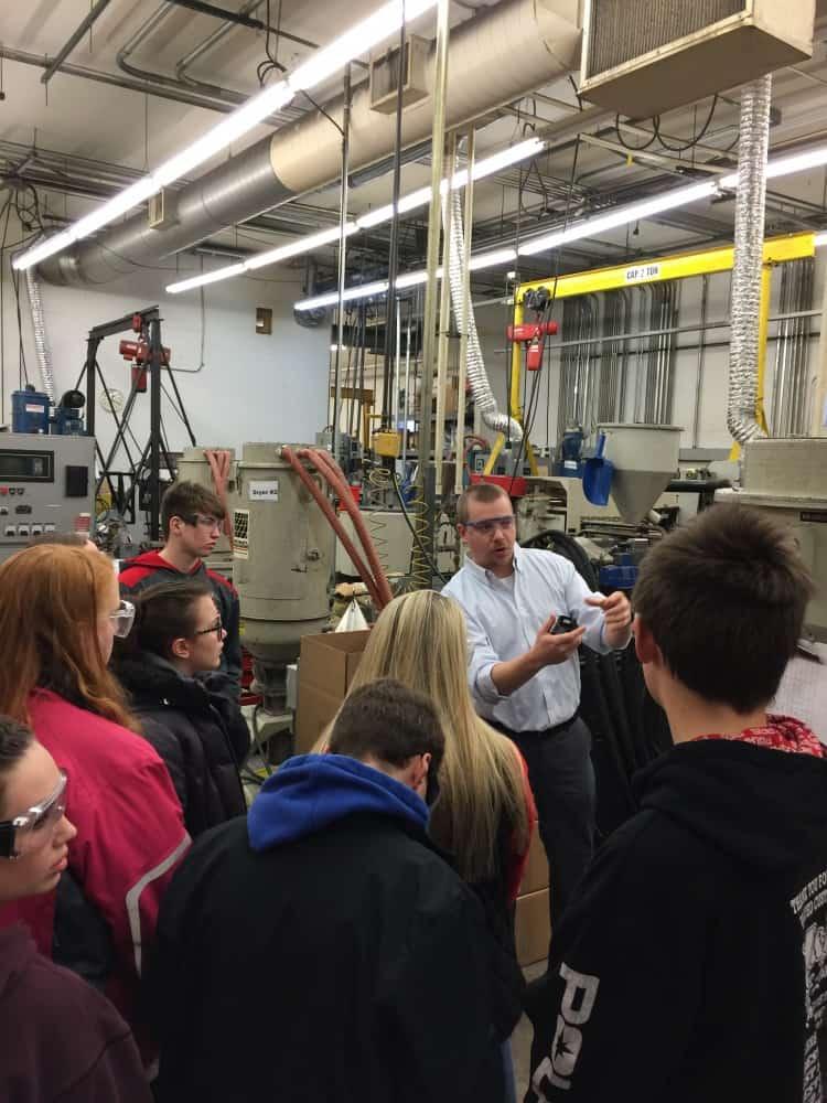 Ben Ninas explaining molding